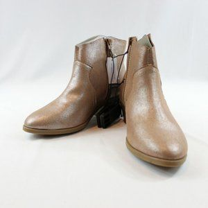 3/60 Time and Tru Beige Silver Rose Cowboy Booties